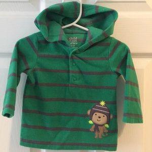 Carters half button hoodie 6-9 months